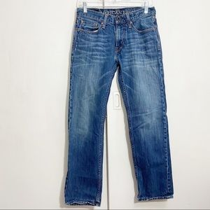 AMERICAN EAGLE OUTFITTERS slim straight medium wash jeans. Size 28, 30 length.